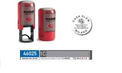 TIMBRI rotondi personalizzati autoinchiostranti ONLINE 6 RIGHE 46025