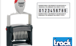 TIMBRO CON NUMERI E TESTI 4 RIGHE TRODAT - ART. 55510