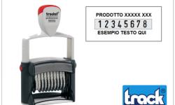 TIMBRO CON NUMERI E TESTI 4 RIGHE TRODAT - ART. 5558 PL