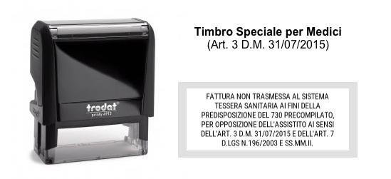 Timbro Speciale per Medici