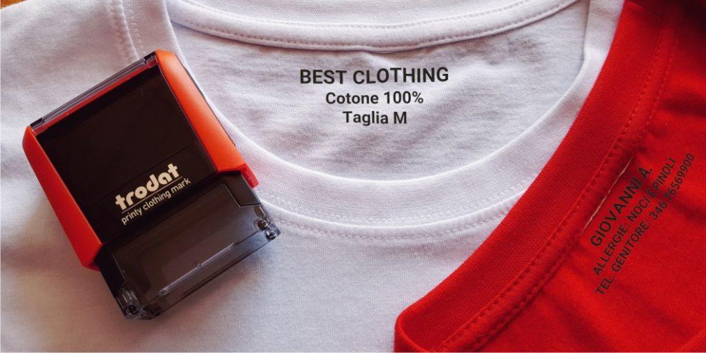 Timbro personalizzato autoinchiostrante abbigliamento scuola uniforme marcatore tessuto tessile personalizzato nome personalizzato auto inchiostrante bambino Kindergarten.