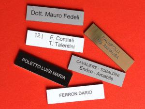 Targhetta Cassetta Postale.Targhette Adesive Per Cassette Postali In Plastica Con